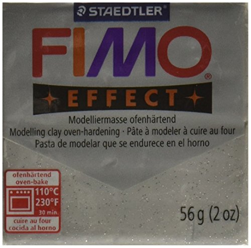 Fimo Soft Polymer Clay 2 onces-8020-812 Glitter argent