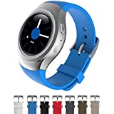 Dokpav® Banda Pulsera Correa de Reloj Inteligente Smartwatch Silicona Deportiva para Samsung Gear S2 - azul