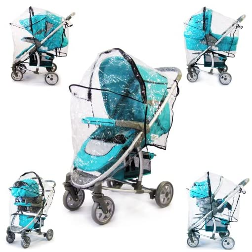 All In One Rain Cover For Hauck Malibu All In One 3 In One Raincover Travel System, Carseat, Pram, Carrycot & Stroller Fit 51JrDuzvLLL