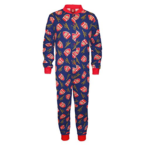 Arsenal FC Official Football Gift Boys Kids Pyjama All-In-One Navy 5-6 Years