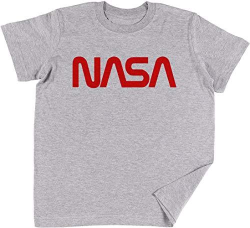 Vendax NASA Logo Niños Chicos Chicas Unisexo Camiseta Gris