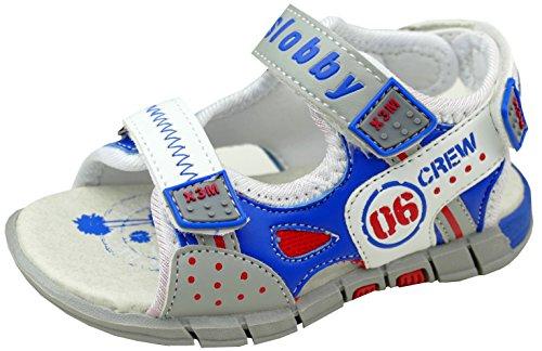gibra Sandalen für Kinder Kindersandalen, Art. 8247, Blau/Weiß/Grau, Gr. 26 (Schuhe Fuchsia Kinder Kleinkind)