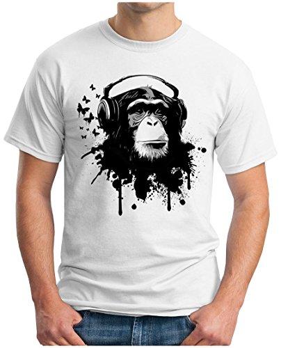 OM3 - Camiseta - Manga corta - para hombre blanco X-Large