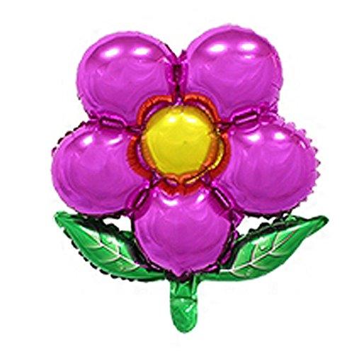 """Preisvergleich Produktbild sourcingmap® Folien Blumen Entwurfs Ballon Hochzeits Jahrestags Feier Verzierung Fuchsie 18"""""""