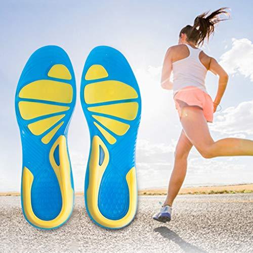Youliy, solette ortopediche in silicone per la cura dei piedi, per corsa, sport, assorbimento degli urti