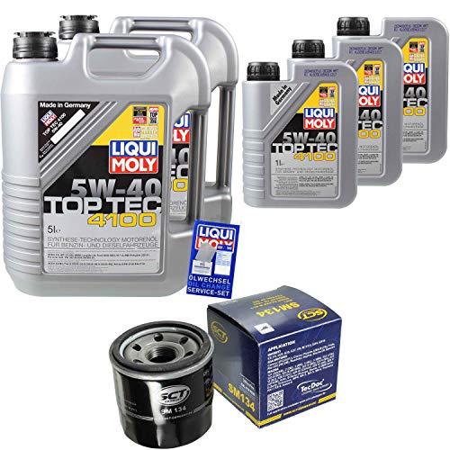 nspaket 13 Liter Liqui Moly Motoröl Top Tec 4100 5W-40 SCT Germany Ölfilter ()