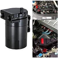 KKmoon Motor Aceite Catch Tanque de Respirable Compatible con Aleación de Aluminio Universal + Manguera Kit
