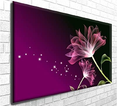 Pollination Stunning Floral Box Canvas Art Print - Wall Decor - Modern Art Gallery Wrapped Framed Ready to Hang (30in x 20in) - low-cost UK canvas store.