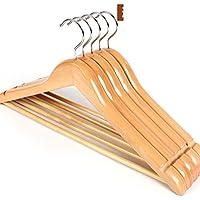 Log rack/ tinta legno antiscivolo hanger/ vestiti senza giunte prop/ stendini per uso domestico-B