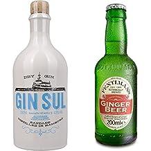 Gin Sul (1 x 0.5 l) mit Fentimans Ginger Beer, 12er Pack (12 x 200 ml)