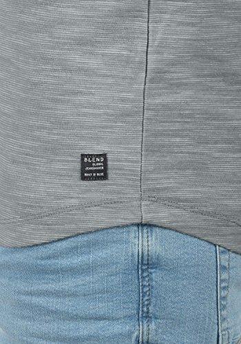 Blend laslo Herren Sweatshirt Longsleeve Aus 100% Baumwolle in Melange-Optik Granite (70147)