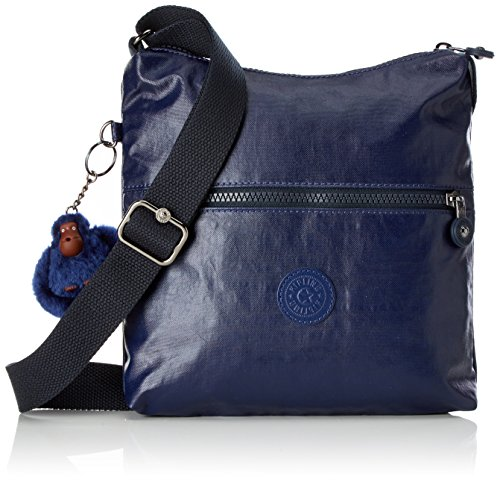Kipling Damen ZAMOR Umhängetasche, Blau (Lacquer Indigo) 25.5 x 24.5 x 4 cm