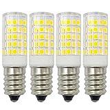 Ampoule LED E14 12V Blanc Froid 6000K Dimmable 4W Equivaut 35W-40W Halogène Lampe Edison Basse Tension Intensité Non Variable, Lot de 4