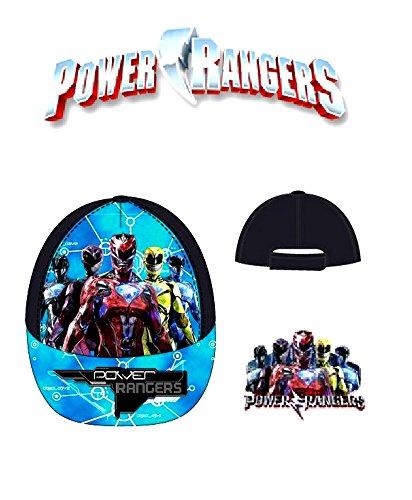 Jungen Kinder OFFIZIELL Verschiedene Superheld-Charakter Spiderman Power Ranger Sommer Baseball Caps Größe 52cms (Alter 2-6) 54cms (Alter 5-8)