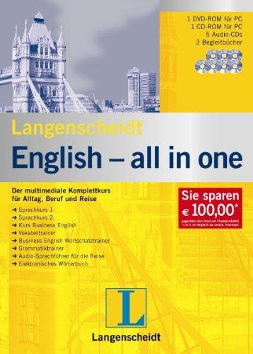 Langenscheidt English all in one. Windows Vista; XP; 2000: Der multimediale Komplettkurs für Alltag, Beruf und Reise