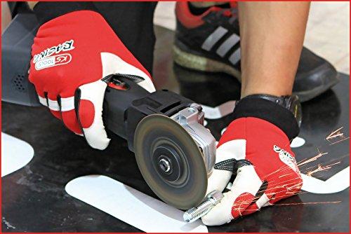 KS Tools 310.0250 Leder-Mechaniker-Handschuh, L - 6