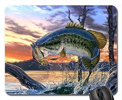 Fischen Sie themenorientierte Spielmausunterlage, Lachsfrühlinge Mausunterlage, Mousepad