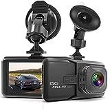 Dash Cam HaWacha Dash Camera for Cars with Full HD 1080P 170 Degree Super Wide Angle Cameras, 3.0' TFT Display, G-Sensor, Night Vision, WDR, Loop Recording image
