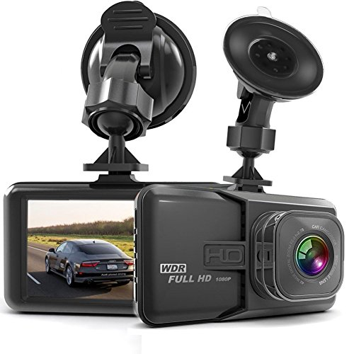"Dash Cam HaWacha Dash Camera for Cars with Full HD 1080P 170 Degree Super Wide Angle Cameras, 3.0"" TFT Display, G-Sensor, Night Vision, WDR, Loop Recording"