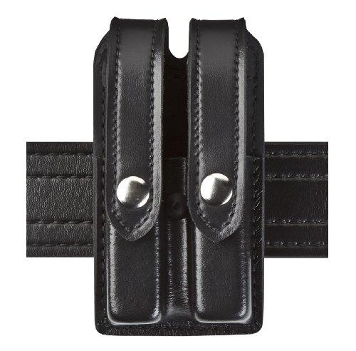 Safariland Duty Gear Slimline Double Magazine Pouch With Flap Plain Black Glock 17, 22, 34, 34; Sig P229 -