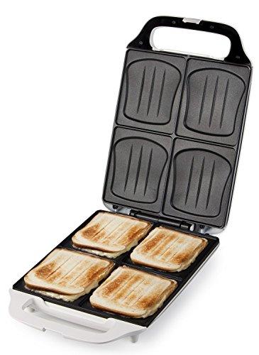 51JrLqpU3TL - Domo DO9064C Sandwich Maker, 1800 W, White