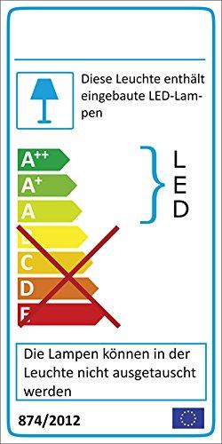 Sideboard in Hochglanz weiß mit 2 Schubkästen, 4 Türen und 4 Einlegeböden, inkl. LED-Beleuchtung, Maße: B/H/T ca. 175/81/40 cm - 3