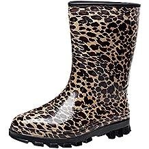 LvRao Botas de Agua de Lluvia el Tacón Alto de las Mujeres | Boots Impermeable Botas Largas de los Tobillo Botines
