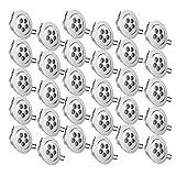 Auralum Lot de 30 Spots Encastrables LED 5W Projecteur Encastré Lampe 480 LM Plafonnier Blanc Chaud Plafond