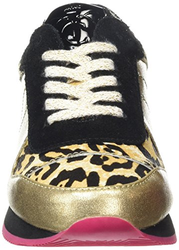 Juicy Couture Emmah, baskets sportives femme multicolore (gold leather leo)