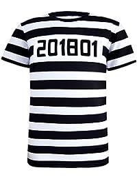 Funny World Hombres Prisionero de Halloween Traje Camisetas
