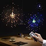 LED Lichterkette,Queta Kreative Dekoration Feuerwerk Lichterketten mit Fernbedienung Hängeleuchte für Garten Schlafzimmer Party Hochzeit Ostern Weihnachten Dekoration