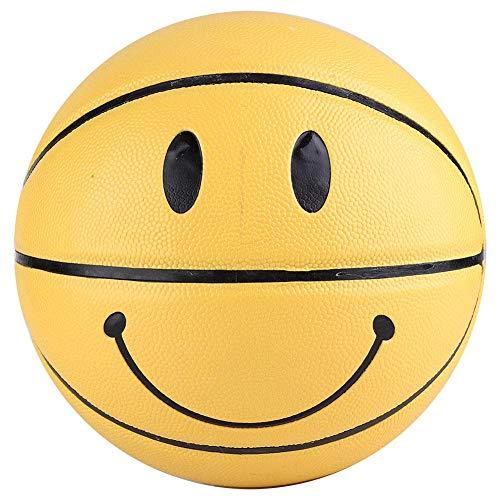 Alomejor Basketball des Jeunes Basket Taille 5 avec Un Design Smiley Cool Haut élastique Cuir Résistant à l'usure pour Les Compétitions de Jeux