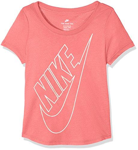 Nike Mädchen Sportswear T-Shirt Girls, Sea Coral/MTLC Gold Star, XS