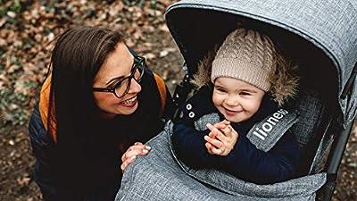 Lionelo Annet Buggy mit Liegefunktion Kinderwagen klein zusammenklappbar Eva-Schaum-Räder Moskitonetz Fußdecke Getränkehalter Korb