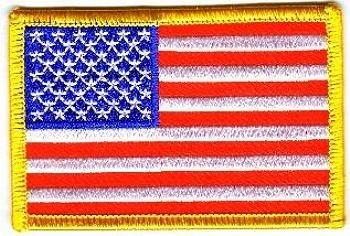 Flaggen Aufnäher Patch USA Fahne Flagge NEU -