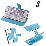 Flipcover Schutz Hülle für ZTE Blade A520, blau (hellblau) | bookstyle wallet case slim cover Tasche - K-S-Trade (TM)