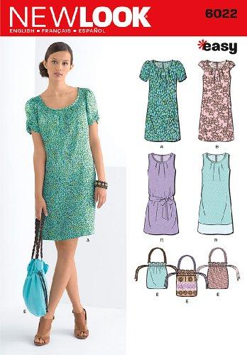 New Look Schnittmuster 6022 A für Damenkleider, Gr. 36-46