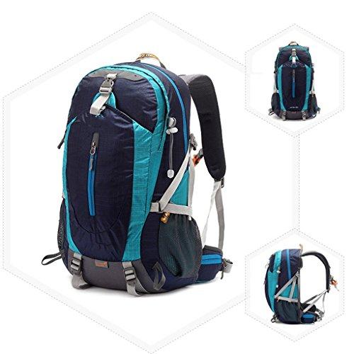 AMOS Borsa per alpinismo all'aperto sport spalle zaino uomini e donne a piedi corsa viaggio a cavallo all'aperto zaino 38L ( Colore : Blu zaffiro ) Blu zaffiro