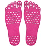 Okayji Beach Foot Pads For Barefoot Lover,Invisible Shoes Stick On Foot Pads,Stick On Soles With Anti-Slip And Waterproof, 2 Pairs