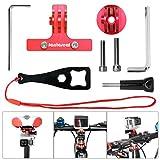 Fantaseal Kit de Monturas de Bicicleta Aleación de Aluminio Montura para Bici de 2-Rail de Silla +Rack Mount + Montura de Vástago para Gopro Hero 7/6/5/4/3+/3 etc Cámaras de acción, Rojo