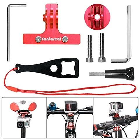Fantaseal® Actionkamera Fahrrad Halter Set Aluminium Action Kamera Fahrrad Befestigung