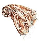 Lorenzo Cana Luxus Pashmina Schal Schaltuch jacquard gewebt 100% Seide Paisley Muster Seidenschal Seidentuch Seidenpashmina mehrfarbig 7800377