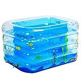 WENJUN Aufblasbare Falt-Badewanne Startseite Aufblasbare Pool Verdickung Infant Kinderbecken Infinity-Pool Erwachsenen Badewanne (Farbe : Blau, größe : 115 * 95 * 75 cm)