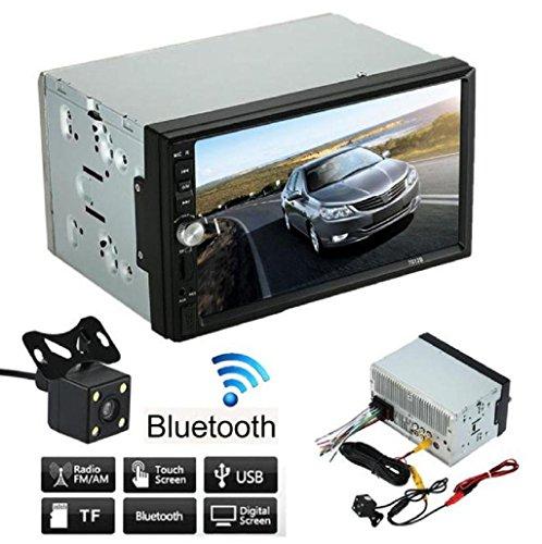 Sannysis 2 Din Auto Audio Bluetooth estéreo Unidad Jefe de MP3 / MP5 con cámara de aparcamiento