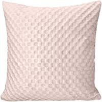 ShawsDirect Velvet Touch Heaton Check And Dot Design Cushion Cover 43cm X 17