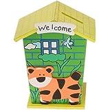 ZHENGTU Piggy Bank for Kids Wood House Animal Designs, Multi Color Perfect Return Gift for Kids Birthday Party (Single Pack) Random Colour