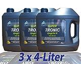 Aral SuperTronic Longlife III 5W-30 3x4 Liter Kanne Super Tronic Motor-Öl Motoren-Öl