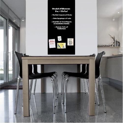KaRoFoilFIX Magnet Tafel l Selbstklebende Folie 100x150 magnetisch - schwarz - inkl. Kreide und 10...