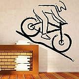 Adesivi murali Decorazioni per la casa Decalcomanie in vinile Adesivi per mountain bike Racer Rugged Concorso per il terreno Adesivi murali in vinile fai-da-te 57X90Cm