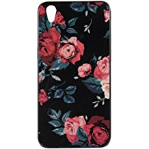 For Oppo R9 IMD Case Cover, Ecoway TPU Porcelain flower series Case Surrounded by diamonds Protective Cover Cell Phone Case for Oppo R9 - A1